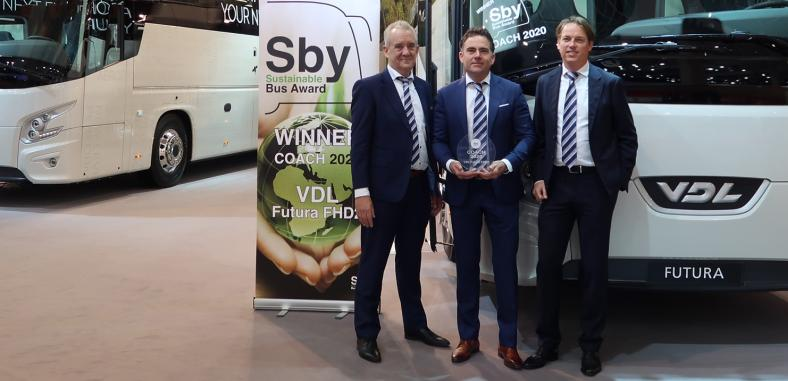 Met de Futura FHD2 wint VDL Bus & Coach  prestigieuze Sustainable Bus of the Year Award 2020