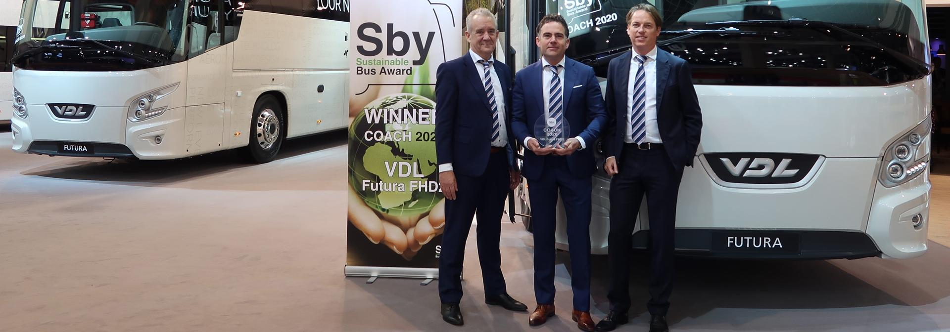 Henk Coppens (CEO), Pieter Gerdingh (Business Manager Coach) and Marcel Jacobs (Commercial Director) from VDL Bus & Coach.