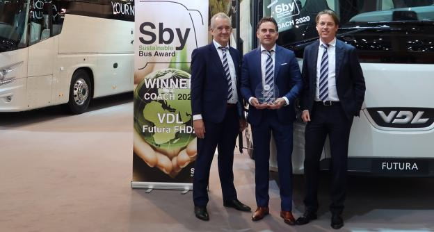 VDL Bus & Coach wins the prestigious Sustainable Bus of the Year Award 2020 for the Futura FHD2